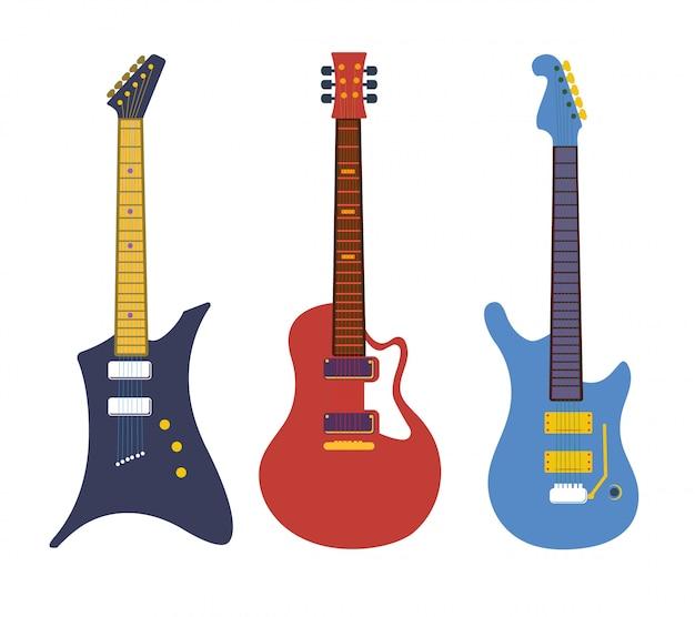 ビンテージベースのエレクトリック・ロック・ギター