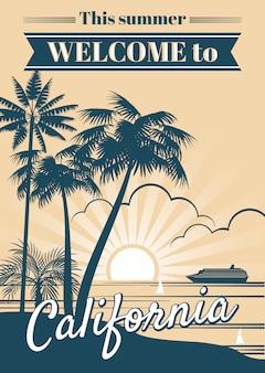 カリフォルニア共和国のベクトルポスター