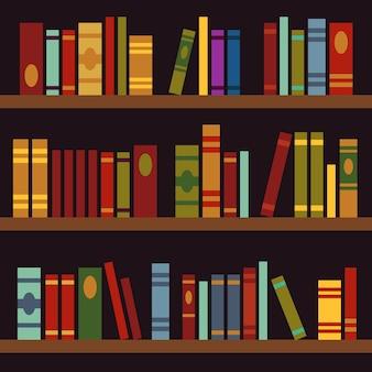 図書館、本棚