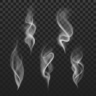 抽象的な透明な煙