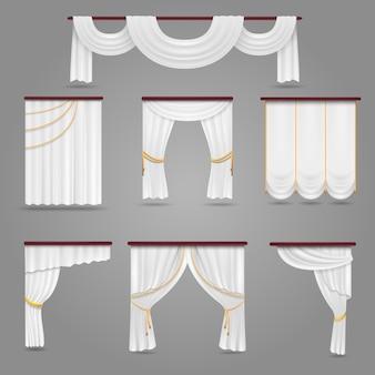 結婚式の部屋のための白いカーテンドレープ