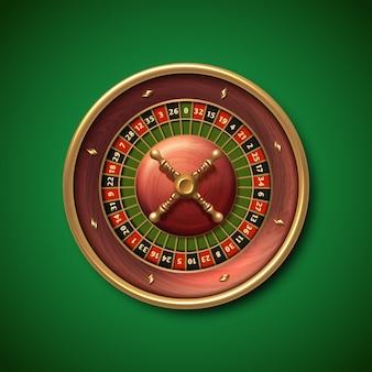 ラスベガスのカジノルーレット盤は、イラストを分離しました。ギャンブルフォーチュンゲーム