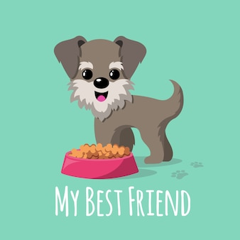 Мультфильм собак векторный фон
