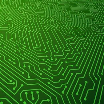 電気方式のベクトルの背景。回路基板部品のコンセプト