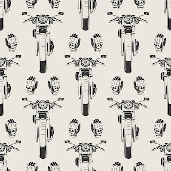 Мотоциклы и мото перчатки бесшовные модели