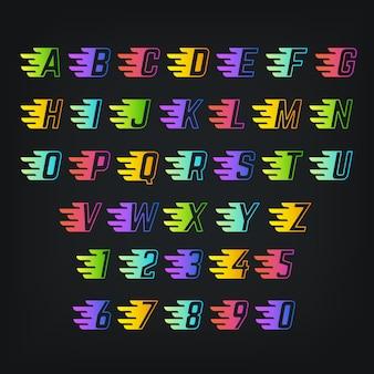 エネルギー色のアルファベット。