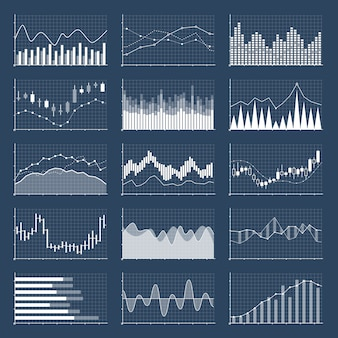 金融キャンドルスティックグラフ