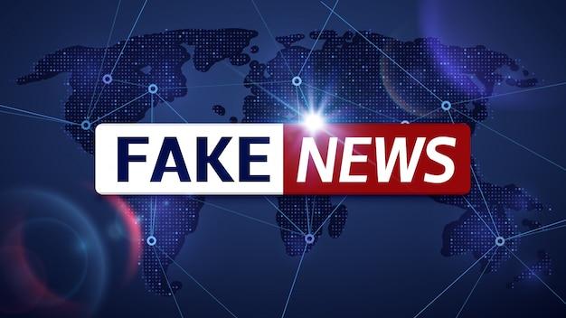 Поддельные новости вектор вещания телевизионного фона