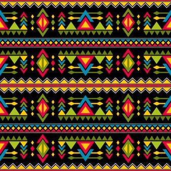 ナバホ織りファッションシームレスなベクターパターン。民族のアフリカの無限の背景のヴィンテージの部族アートプリント