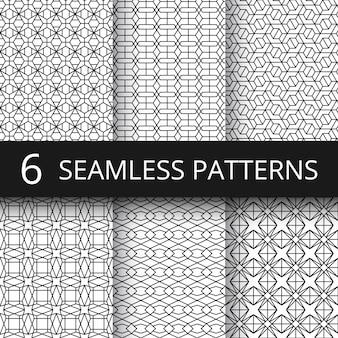 モダンなシンプルな幾何学的ベクトルのシームレスパターン。幾何学的な繰り返しの布地プリント。幾何学的な背景線パターン図