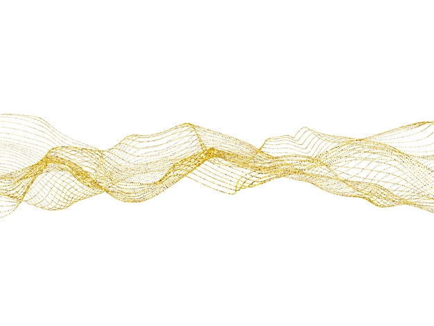 白い背景のベクトル図に火花と黄金の輝き砂波