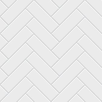 白いヘリンボーン寄木細工の床のシームレスパターン。古典的な無限の床の装飾