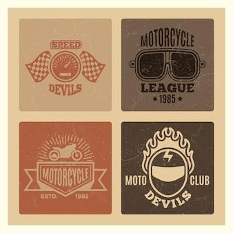 ビンテージグランジモータークラブとオートバイリーグのラベル