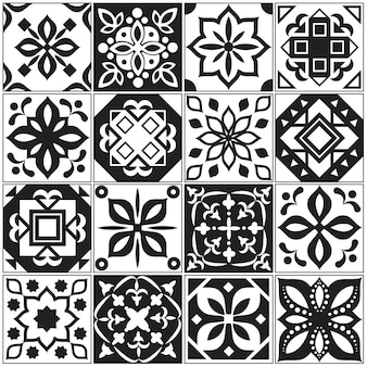 Современный интерьер испанской и турецкой плитки. кухонные цветочные узоры