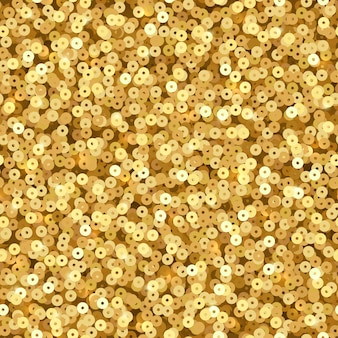 ゴールドのきらめくスパンコール。