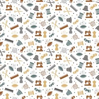縫製または編み物のシームレスパターン