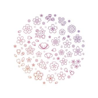 Цветущая композиция из тонких цветов