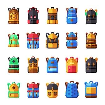 Плоские рюкзаки для путешествий, школы, походной коллекции