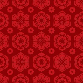 伝統的な中国と日本の花のシームレスなパターンデザイン