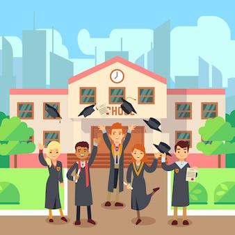 学校の卒業生の概念