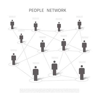 人的ネットワーク接続
