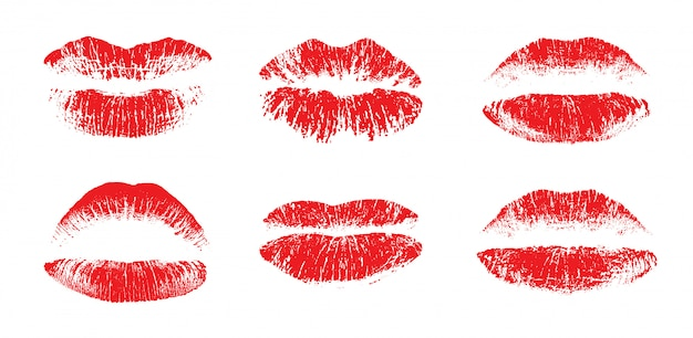 女性の美しい唇セット