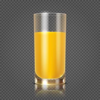 ガラスのオレンジジュース