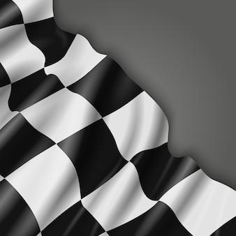 チェッカーレース旗と抽象的な背景