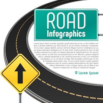 ロードトリップマップのインフォグラフィック