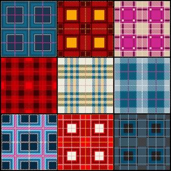 古典的な英国の伝統的なシームレスパターンコレクション