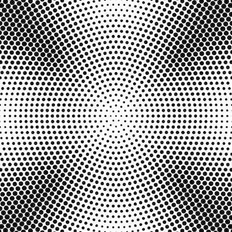 Абстрактный радиальный пунктир полутонов фона