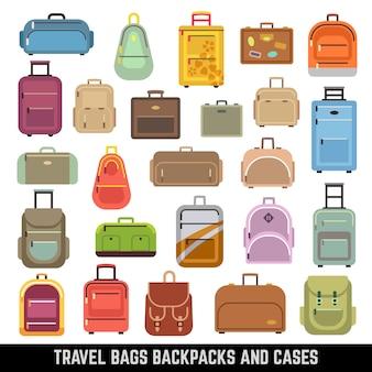 旅行バッグバックパックとケースの色