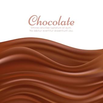 Волнистый шоколадный всплеск фон