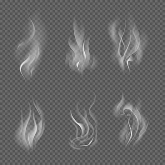 現実的なタバコの煙の波