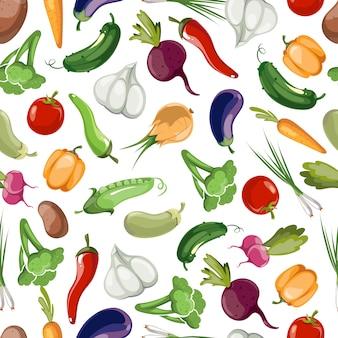 Бесшовные овощей