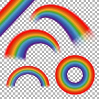 虹は透明な格子縞に設定