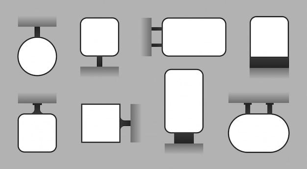 空白の広告看板、屋外ライトボックス、店舗看板、表示板