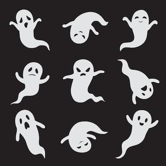 幽霊。ハロウィーンの幽霊のような顔。
