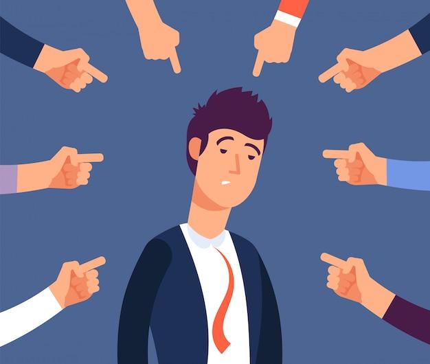 Взрослый мужчина подвергается преследованиям со стороны разгневанных коллег