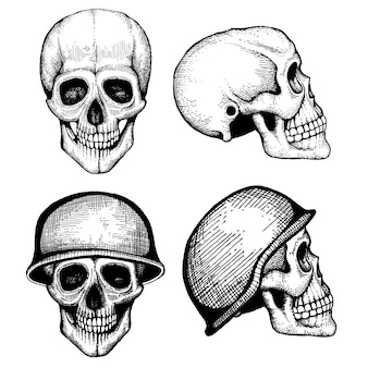Ручной обращается вектор смерти страшные человеческие черепа
