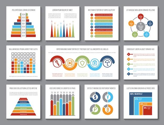 データグラフィック。分析バーと予算グラフ