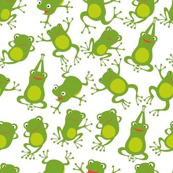 カエルのシームレスパターン