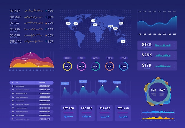 Набор шаблонов инфографики