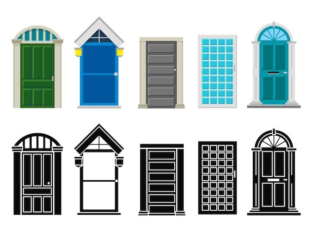Комплект передних дверей дома