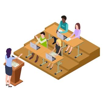 講義中の留学生