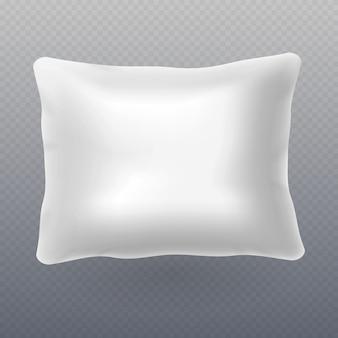 柔らかい白い現実的な枕