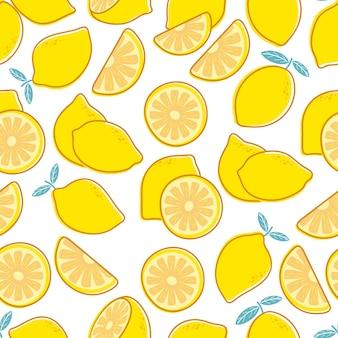 Лимонный бесшовный фон