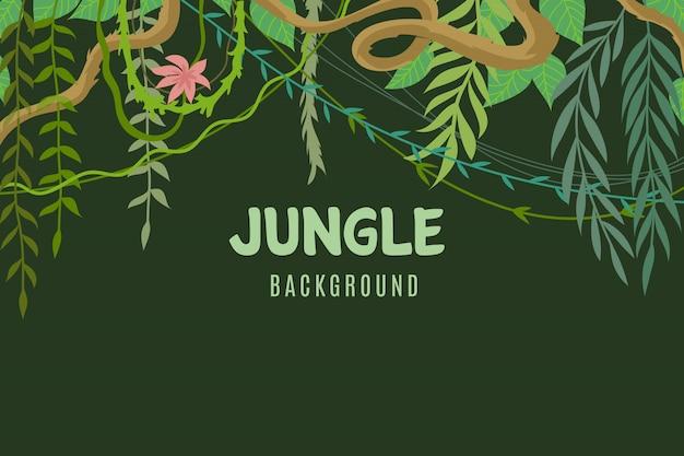 熱帯のジャングルの背景
