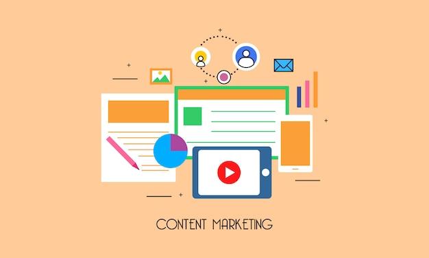 Плоская система маркетинга контента