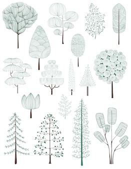 Иллюстрация коллекции сосен